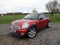 USED 2012 12 MINI COUPE 1.6 COOPER 2d 120 BHP DEMO + 1 LADY OWNER FROM NEW WITH FULL MINI SERVICE HISTORY