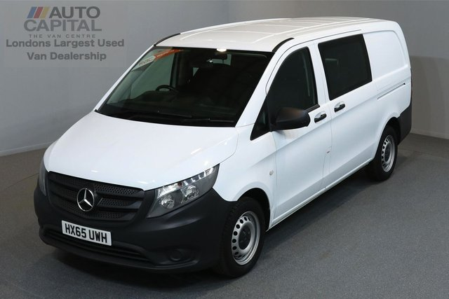 2015 65 MERCEDES-BENZ VITO 1.6 111 CDI 5d 114 BHP LWB AIR CONDITION CRUISE CONTROL 6 SEAT COMBI VAN ONE OWNER FROM NEW