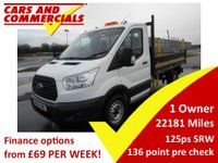 2016 FORD TRANSIT TIPPER 350 L2 RWD SRW 125ps (Steel Body) £13995.00