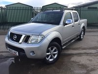 USED 2013 63 NISSAN NAVARA 2.5 DCI TEKNA 4X4 SHR DCB 1d AUTO 188 BHP SAT NAV LEATHER SIDE STEPS NO FINANCE REPAYMENTS FOR 2 MONTHS STC. COMMERCIAL (£13200+2640VAT). 4WD. STUNNING GREY MET WITH FULL BLACK LEATHER TRIM. ELECTRIC HEATED SEATS, CRUISE CONTROL. AIR CON. RUNNING BOARDS. 17 INCH ALLOYS. COLOUR CODED TRIMS. PRIVACY GLASS. REVERSING CAMERA. ROOF RACK/RAILS. BLUETOOTH PREP. PAS. MONITOR. R/CD PLAYER. MFSW. MOT 09/18. ONE PREV OWNER. FULL SERVICE HISTORY. FCA FINANCE APPROVED DEALER. TEL 01937 849492