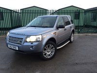 USED 2008 08 LAND ROVER FREELANDER 2 2.2 TD4 HSE 5d AUTO 159 BHP PAN ROOF SAT NAV LEATHER FSH NO FINANCE REPAYMENTS FOR 2 MONTHS STC. 4WD. PANORAMIC SUNROOF. SATELLITE NAVIGATION. STUNNING SILVER BLUE MET WITH FULL BEIGE LEATHER TRIM. ELECTRIC MEMORY HEATED SEATS. CRUISE CONTROL. 18 INCH ALLOYS. COLOUR CODED TRIMS. PRIVACY GLASS. PARKING SENSORS. BLUETOOTH PREP. AIR CON. R/CD PLAYER. MFSW. MOT 01/19. FULL SERVICE HISTORY. FCA FINANCE APPROVED DEALER. TEL 01937 849492