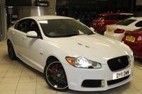 """USED 2011 11 JAGUAR XF 5.0 V8 R 4d AUTO 510 BHP FULL SERVICE HISTORY + FULL BLACK LEATHER SEATS + SAT NAV + REVERSE CAMERA + BLUETOOTH + BLIND SPOT MONITORING SYSTEM + HEATED AND COOLED FRONT SEATS + T.V/DAB + CRUISE CONTROL + 20"""" ALLOYS"""