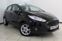 USED 2015 15 FORD FIESTA 1.6 ZETEC 5DR AUTOMATIC 104 BHP FULL FORD SERVICE HISTORY + PARKING SENSOR + BLUETOOTH + MULTI FUNCTION WHEEL + AIR CONDITIONING + 15 INCH ALLOY WHEELS