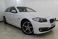 USED 2013 63 BMW 5 SERIES 2.0 520D LUXURY TOURING 5DR 181 BHP FULL BMW SERVICE HISTORY + HEATED LEATHER SEATS + SAT NAVIGATION PROFESSIONAL + PARKING SENSOR + BLUETOOTH + CRUISE CONTROL + MULTI FUNCTION WHEEL + 18 INCH ALLOY WHEELS