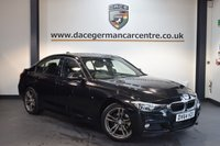 USED 2015 64 BMW 3 SERIES 2.0 320D M SPORT 4DR 181 BHP + FULL BLACK LEATHER INTERIOR + 1 OWNER FROM NEW + SATELLITE NAVIGATION + SPORT SEATS + BLUETOOTH + DAB RADIO + CRUISE CONTROL + PARKING SENSORS + 18 INCH ALLOY WHEELS +