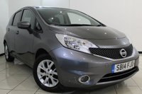 USED 2014 14 NISSAN NOTE 1.5 DCI ACENTA PREMIUM 5DR 90 BHP NISSAN SERVICE HISTORY + SAT NAVIGATION + CRUISE CONTROL + MULTI FUNCTION WHEEL + CLIMATE CONTROL + 15 INCH ALLOY WHEELS