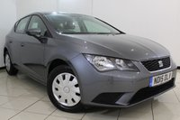USED 2015 15 SEAT LEON 1.6 TDI S 5DR 110 BHP SEAT SERVICE HISTORY + BLUETOOTH + MULTI FUNCTION WHEEL + AIR CONDITIONING + RADIO/CD