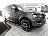 USED 2014 63 LAND ROVER RANGE ROVER SPORT 3.0 SDV6 HSE 22 INCH TURBINES STEPS BLK LTR
