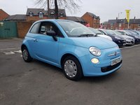 USED 2012 62 FIAT 500 1.2 POP 3d 69 BHP EXCELLENT FUEL ECONOMY!!..LOW CO2 EMISSIONS..£30 ROAD TAX..FULL HISTORY...ONLY 22685 MILES FROM NEW!!..WITH AUXILLIARY ,USB INPUT AND CITY MODE FOR EXTRA LIGHT POWER STEERING!!