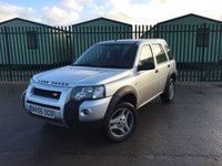 USED 2006 55 LAND ROVER FREELANDER 2.0 TD4 ADVENTURER 5d 110 BHP AIR CON ALLOYS FSH MOT 11/18 STUNNING SILVER MET WITH GREY CLOTH TRIM. 17 INCH ALLOYS. COLOUR CODED TRIMS. AIR CON. R/CD PLAYER. MOT 11/18. FULL SERVICE HISTORY. AGE/MILEAGE RELATED SALE. TEL 01937 849492