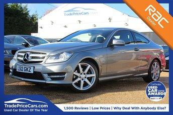 2012 MERCEDES-BENZ C CLASS 2.1 C220 CDI BLUEEFFICIENCY AMG SPORT 2d 170 BHP £11500.00