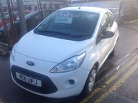 USED 2011 11 FORD KA 1.2 STUDIO 3d 69 BHP White, low tax, low insurance, economical, superb,