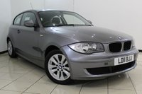 USED 2011 11 BMW 1 SERIES 2.0 116D ES 3DR 114 BHP SERVICE HISTORY + AIR CONDITIONING + RADIO/CD + ELECTRIC WINDOWS + ELECTRIC MIRRORS + 16 INCH ALLOY WHEELS