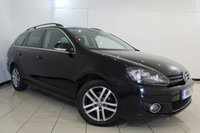 USED 2011 11 VOLKSWAGEN GOLF 1.6 SPORTLINE TDI BLUEMOTION 5DR 103 BHP SERVICE HISTORY + MULTI FUNCTION WHEEL + RADIO/CD + AUXILIARY PORT + AIR CONDITIONING + 17 INCH ALLOY WHEELS