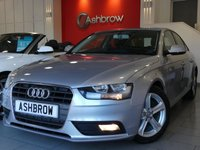 USED 2014 64 AUDI A4 2.0 TDI SE TECHNIK 4d 136 S/S HDD SAT NAV WITH JUKEBOX & DVD PLAYBACK (MMI NAVIGATION PLUS), FULL BLACK LEATHER INTERIOR, DAB RADIO, WIRELESS LAN CONNECTION (WLAN), BLUETOOTH PHONE WITH MUSIC STREAMING, AUDI MUSIC INTERFACE FOR IPOD / USB DEVICES (AMI), MMI WITH 2x SD CARD READERS, FRONT & REAR PARKING SENSORS WITH DISPLAY, FRONT FOG LIGHTS, 17 INCH 5 SPOKE ALLOYS, LEATHER MULTIFUNCTION STEERING WHEEL, CRUISE CONTROL, LIGHT & RAIN SENSORS WITH AUTO DIMMING REAR VIEW MIRROR, 1 OWNER FROM NEW, FULL AUDI SERVICE HIST, £30 RFL