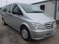 USED 2014 64 MERCEDES-BENZ VITO 113 CDI 9 SEATER TRAVELINER, 136 BHP, AIR CON, ELECTRIC PACK, 1 COMPANY OWNER