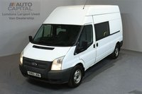 USED 2013 63 FORD TRANSIT 2.2 350 124 BHP L3 H3 LWB HIGH ROOF 9 SEATER COMBI VAN ONE OWNER FROM NEW, FULL SERVICE HISTORY