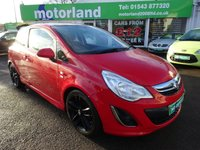 USED 2012 12 VAUXHALL CORSA 1.2 LIMITED EDITION 3d 83 BHP 12 MONTHS M.O.T ..6 MONTHS WARRANTY