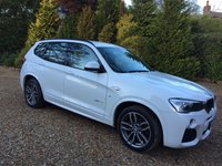 USED 2015 65 BMW X3 2.0 XDRIVE20D M SPORT 5d AUTO 188 BHP 1 OWNER LOCAL CAR IN WHITE WITH ONLY 11000 MILES FSH
