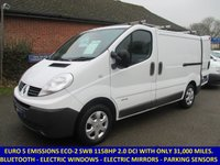 2013 RENAULT TRAFIC SL27 DCI 115 SWB WITH ELECTRIC PACK & BLUETOOTH £7495.00