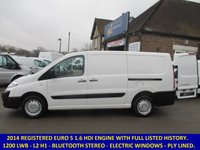 USED 2014 CITROEN DISPATCH 1200 L2H1 LWB WITH BLUETOOTH & HISTORY
