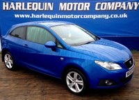 USED 2011 60 SEAT IBIZA 1.6 SPORT CR TDI 3d 103 BHP 2011 SEAT IBIZA SPORT TURBO DIESEL IN METALLIC ELECTRIC BLUE 3 DOOR MANUAL SPORTS CLOTH SEATS ALLOYS REVERSE CAMERA AIR CON CRUISE CONTROL 74K FULL SERVICE HISTORY