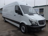 USED 2014 64 MERCEDES-BENZ SPRINTER 313 CDI LWB HI ROOF, 130 BHP [EURO 5], 1 COMPANY OWNER