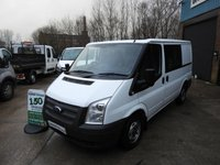 2013 FORD TRANSIT 2.2 6 SEAT FACTORY CREW CAB 125 BHP WITH FSH  £8695.00