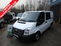 USED 2013 13 FORD TRANSIT 2.2 6 SEAT FACTORY CREW CAB 125 BHP WITH FSH  FACTORY 6 SEATER WITH FSH CHOICE