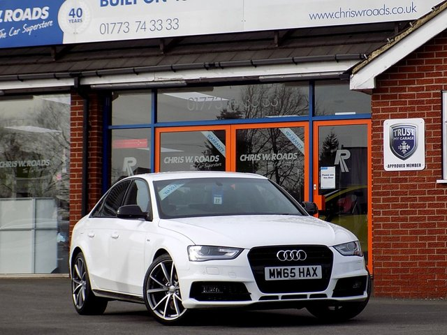USED 2015 65 AUDI A4 2.0 TDi S LINE BLACK EDITION NAV 4dr (190) *Sat Nav & Low Miles*