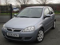 USED 2006 06 VAUXHALL CORSA 1.0 ACTIVE 12V TWINPORT 3d 60 BHP Full Service History