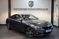 USED 2015 15 BMW 4 SERIES 3.0 430D XDRIVE M SPORT 2DR AUTO 255 BHP + FULL LEATHER INTERIOR + PRO SATELLITE NAVIGATION + XENON LIGHTS + BLUETOOTH + HEATED SPORT SEATS + HEAD-UP DISPLAY + DAB RADIO + HARMAN/KARDON SPEAKERS + AURO AIR CONDITIONING + RAIN SENSORS + PARKING SENSORS + 18 INCH ALLOY WHEELS +