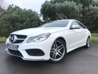 USED 2013 63 MERCEDES-BENZ E CLASS 2.1 E220 CDI AMG SPORT 2d AUTO 170 BHP ONE OWNER NEW SHAPE AMG SPORT COUPE IN WHITE WITH ONLY 50K FSH