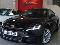 USED 2015 65 AUDI TT 2.0 TDI ULTRA S LINE 2d 185 S/S UPGRADE 19 INCH TWIN 5 SPOKE ALLOYS, UPGRADE HEATED FRONT SEATS, UPGRADE REAR PARKING SENSORS,  LED XENON LIGHTS, BLACK LEATHER ALCANTARA INTERIOR, SPORT SEATS WITH ELECTRIC LUMBAR SUPPORT, VIRTUAL DASH BOARD, LEATHER FLAT BOTTOM MULTIFUNCTION STEERING WHEEL, AUDI DRIVE SELECT, BLUETOOTH PHONE & MUSIC STREAMING, DAB RADIO, WIFI MEDIA, AUX & USB INPUTS, AUTO LIGHTS & WIPERS, SPEECH DIALOGUE SYSTEM, AIR CONDITIONING, TYRE PRESSURE MONITORING SYSTEM. 1 OWNER, FULL AUDI HISTORY, £20 ROAD TAX