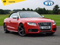 USED 2010 AUDI A5 3.0 S5 TFSI QUATTRO 2d 329 BHP Here we have a stunning Audi A5 3.0 TFSi S5 quattro 330 bhp Convertible in red with a black electric roof and two tone red and black full leather sports interior. Just 49000 miles with service history. Comes with an independent AA report. An amazing car for £17999.