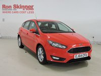 USED 2014 64 FORD FOCUS 1.5 ZETEC TDCI 5d 118 BHP with rear park assist