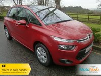USED 2014 63 CITROEN C4 PICASSO 1.6 HDI VTR PLUS 5d 91 BHP Fantastic Value New Shape Citroen C4 Picasso with One Previous Owner, Air Conditioning, Cruise Control, Alloy Wheels and Service History