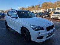 USED 2013 13 BMW X1 2.0 XDRIVE25D M SPORT 5d 215 BHP Alpine White, Black leather, Sat Nav, Media, USB, phone & more. 215hp model