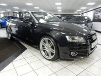 USED 2011 11 AUDI A5 CABRIOLET 3.0 TDI QUATTRO S LINE AUTO FSH SAT NAV 20'S BLACK LEATHER