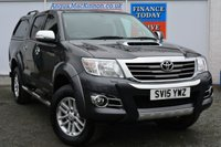 USED 2015 15 TOYOTA HI-LUX 3.0 INVINCIBLE X 4X4 D-4D DCB 1d 169 BHP ONE REGISTERED KEEPER