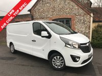 USED 2016 16 VAUXHALL VIVARO 1.6 2900 L2H1 CDTI P/V SPORTIVE 1d 114 BHP Long Wheel Base, Air Conditioning, One Owner From New.