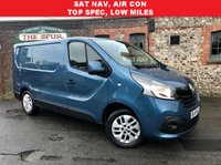 USED 2015 65 RENAULT TRAFIC 1.6 SL27 SPORT ENERGY DCI S/R P/V 1d 120 BHP SAT NAV, Only 18,500 Miles, 120 Bhp, Air Conditioning, Panorama Blue.