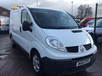 USED 2011 61 RENAULT TRAFIC SWB 2.0 SL27 DCI S/R 115 BHP 1 OWNER FSH NEW MOT SAT NAV FREE 6 MONTH AA WARRANTY, RECOVERY AND ASSIST NEW MOT SPARE KEY BLUETOOTH RACKING AND SHELVING POWER SOCKET REAR PARKING SENSORS HAND WASH STATION ROOF RACK SATELLITE NAVIGATION