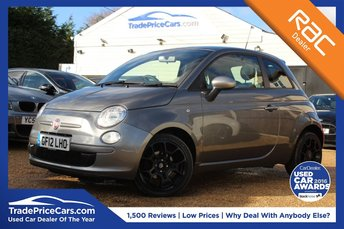 2012 FIAT 500 0.9 TWINAIR PLUS 3d 85 BHP £5650.00