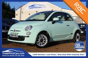 2014 FIAT 500 0.9 TWINAIR LOUNGE 3d 85 BHP £6850.00