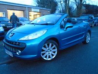 USED 2008 08 PEUGEOT 207 1.6 CC GT HDI 2d 108 BHP DIESEL CONVERTIBLE+GOOD HISTORY
