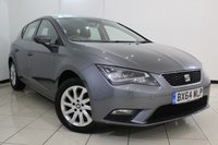 USED 2014 64 SEAT LEON 1.6 TDI SE TECHNOLOGY 5DR 105 BHP FULL SEAT SERVICE HISTORY + BLUETOOTH + CRUISE CONTROL + MULTI FUNCTION WHEEL + RADIO/CD + 16 INCH ALLOY WHEELS