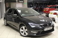 USED 2014 64 SEAT LEON 1.4 TSI FR TECHNOLOGY 5d 150 BHP HALF LEATHER SPORT SEATS + FULL MAIN DEALER SERVICE HISTORY + SAT NAV + BLUETOOTH + £20 ROAD TAX + CRUISE CONTROL + 17 INCH ALLOYS + DAB RADIO