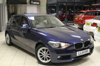 USED 2014 14 BMW 1 SERIES 1.6 116D EFFICIENTDYNAMICS BUSINESS 5d 114 BHP FULL OYSTER CREAM LEATHER SEATS + BMW SERVICE HISTORY + BMW SERVICE PACK UNTIL MAY 2019/50K + PRO SAT NAV + FREE ROAD TAX + BLUETOOTH + DAB RADIO + HEATED FRONT SEATS + 16 INCH ALLOYS + RAIN SENSORS