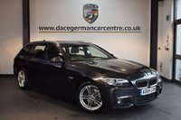 USED 2015 64 BMW 5 SERIES 2.0 520D M SPORT TOURING 5DR AUTO 188 BHP + FULL BLACK LEATHER INTERIOR + FULL BMW SERVICE HISTORY + 1 OWNER FROM NEW + SATELLITE NAVIGATION + HEATED SPORT SEATS + BLUETOOTH + DAB RADIO + RAIN SENSORS + PARKING SENSORS + 18 INCH ALLOY WHEELS +